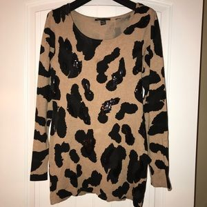 🌸INC Cheetah Sweater